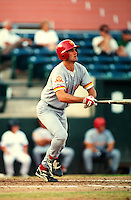Paul Konerko of the Los Angeles Dodgers at Phoenix Municipal Stadium in Phoenix,Arizona during the 1996 Arizona Fall League season. (Larry Goren/Four Seam Images)