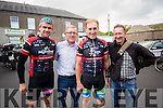 Alan Jones Killarney, John L McElligott, Tralee Sean Kelly and Dave Cotter Tralee at the Tour De Munster cycle in aid of Down Syndrome Ireland on Friday evening last.