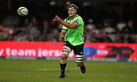 DURBAN, SOUTH AFRICA - MAY 05: Luke Whitelock of the Pulse Energy Highlanders during the Super Rugby match between Cell C Sharks and Highlanders at Jonsson Kings Park Stadium in Durban, South Africa on Saturday, 5 May 2018. Photo: Steve Haag / stevehaagsports.com