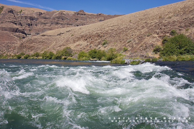 Waves on the Deschutes River.
