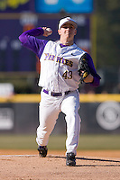 Starting pitcher Seth Maness #43 of the East Carolina Pirates in action versus the Virginia Cavaliers at Clark-LeClair Stadium on February 19, 2010 in Greenville, North Carolina.   Photo by Brian Westerholt / Four Seam Images