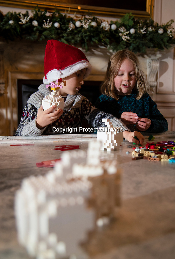 21/11/19<br /> <br /> L/R: Edward Johnstone (6) and Polly Bamforth (5) play Creationary in the Long Gallery.<br /> <br /> Game On: A supersized snakes and ladder and other board games feature at the National Trust's Sudbury Hall, Derbyshire, where rooms have been converted into board games for Christmas. Visitors themselves are the playing pieces on the snakes and ladders board while other traditional board games featured include Scrabble, Guess Who and Cluedo.<br /> <br /> Full story:  https://rkp-press-releases.netlify.com/press-releases/2019-11-20-sudbury-hall-christmas-game-on-national-trust/<br /> <br /> <br /> All Rights Reserved: F Stop Press Ltd.  <br /> +44 (0)7765 242650 www.fstoppress.com