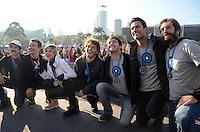 SÃO PAULO,SP, 12.06.2016 - CORRIDA-CANCER -  Famosos participam da Corrida e Caminhada Contra o Câncer de Mama, com largada no Ibirapuera, em São Paulo.(Foto: Eduardo Martins / Brazil Photo Press)