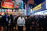 People try to watch the opening of Microsoft's store at Times Square in New York, October 25, 2012. . Photo by Kena Betancur / VIEW.