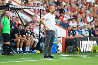 Manchester City Manager Pep Guardiola looks on during AFC Bournemouth vs Manchester City, Premier League Football at the Vitality Stadium on 25th August 2019
