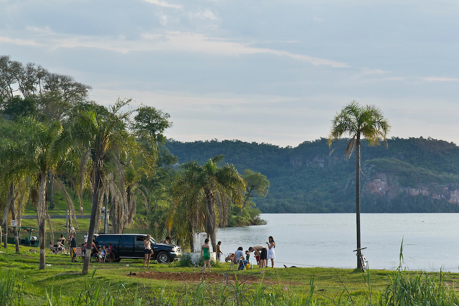 Playa del Sol on the Rio Parana in San Ignacio, Misiones, Argentina.