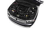 Car Stock 2015 Dodge Durango SXT 5 Door Suv Engine high angle detail view