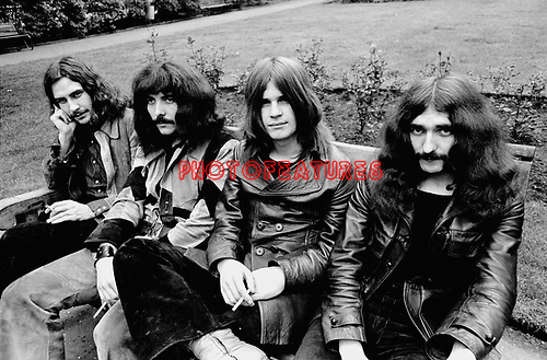 Black Sabbath 1970 Bill Ward, Tony Iommi, Ozzy Osbourne and Geezer Butler