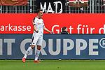 16.03.2019, BWT-Stadion am Hardtwald, Sandhausen, GER, 2. FBL, SV Sandhausen vs FC St. Pauli, <br /> <br /> DFL REGULATIONS PROHIBIT ANY USE OF PHOTOGRAPHS AS IMAGE SEQUENCES AND/OR QUASI-VIDEO.<br /> <br /> im Bild: Philipp F&ouml;rster / Foerster / Forster (SV Sandhausen #28) jubelt ueber sein Tor zum 2:0<br /> <br /> Foto &copy; nordphoto / Fabisch