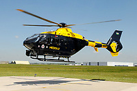 Pictured: The South Wales Police helicopter. STOCK PICTURE<br /> Re: 54 year old Michael Bisgrove who endangered the life of 180 passengers on a Boeing 747 by shining a powerful laser into the cockpit from his bedroom in Boverton, Vale of Glamorgan, has been jailed for 32 months at Newport Crown Court, Wales, UK.