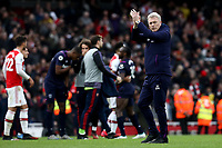 7th March 2020; Emirates Stadium, London, England; English Premier League Football, Arsenal versus West Ham United; West Ham United Manager David Moyes after the 1-0 loss