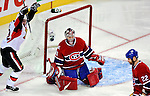 17 October 2009: Montreal Canadiens goaltender Carey Price gives up Montreal's second goal to the Ottawa Senators during the second period at the Bell Centre in Montreal, Quebec, Canada. The Senators defeated the Canadiens 3-1. Mandatory Credit: Ed Wolfstein Photo