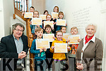 Creative Writing Graduation: Students who attended a creative writing  course at the Seanchai Centre in Listowel given by Marion Relihan wqere presented with their certificates oon Saturday morning last by poet Gabriel Fitzmaurice. Include in the photo are Paddy Stack, Caoimhe Barry, Jai Stack, Michelle O'Callaghan, Niall Stack, Sarah O'Carroll, Libby O'Flaherty, Liam O'Connor, Ethan Doyle, Sarah O'Carroll, Caitlin O'Dowd & Mary O'Connor.