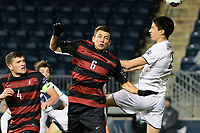 Chester, PA - Friday December 08, 2017: Adam Mosharrafa, Joao Moutinho The Stanford Cardinal defeated the Akron Zips 2-0 during an NCAA Men's College Cup semifinal match at Talen Energy Stadium.