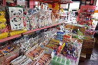 Sweets on sale in Kashiyayokocho, Kawagoe, Saitama Prefecture, Japan, May 7, 2011.