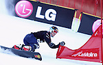 10.03.2012, La Molina, Spain. LG Snowboard FIS Wolrd Cup 2011-2012. Men's parallel giant slalom. Picture show Nevin Galmarin SUI