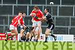 Gary O'Sullivan East Kerry and  Ardfert's Darren Dineen contest the breaking ball in centre field during their Senior County Championship clash in Fitzgerald Stadium on Saturday