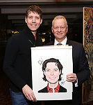 James Barbour with Max Klimavicius attend James Barbour's Top Secret portrait unveiling at Sardi's on March 10, 2017 in New York City.