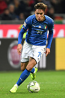 Federico Chiesa of Italy in action during the Nations League League A group 3 football match between Italy and Portugal at stadio Giuseppe Meazza, Milano, November, 17, 2018 <br /> Foto Andrea Staccioli / Insidefoto