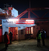 A general view of Crown Ground, home of Accrington Stanley FC<br /> <br /> Photographer Andrew Vaughan/CameraSport<br /> <br /> The EFL Checkatrade Trophy Second Round - Accrington Stanley v Lincoln City - Crown Ground - Accrington<br />  <br /> World Copyright &copy; 2018 CameraSport. All rights reserved. 43 Linden Ave. Countesthorpe. Leicester. England. LE8 5PG - Tel: +44 (0) 116 277 4147 - admin@camerasport.com - www.camerasport.com