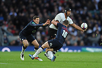 Akapusi Qera of Fiji looks for support during the Old Mutual Wealth Series match between England and Fiji at Twickenham Stadium on Saturday 19th November 2016 (Photo by Rob Munro)