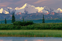 Tundra pond reflects Mount Mather<br />