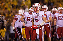 08 October 2009: Nebraska quarterback Zac Lee looking to the sideline for the next play against Missouri at at Memorial Stadium, Columbia, Missouri. Nebraska defeated Missouri 27 to 12.
