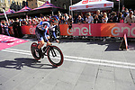 Damiano Cima (ITA) Nippo-Vini Fantini-Faizane off the start ramp of Stage 1 of the 2019 Giro d'Italia, an individual time trial running 8km from Bologna to the Sanctuary of San Luca, Bologna, Italy. 11th May 2019.<br /> Picture: Eoin Clarke | Cyclefile<br /> <br /> All photos usage must carry mandatory copyright credit (© Cyclefile | Eoin Clarke)