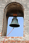 Bell Mission San Juan Capistrano Spanish Catholics of Franciscan Order founded November 1, 1776 All Saints Day mission of the Swallow San Juan Capistrano California,