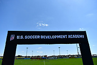 Commerce City, CO - Saturday April 27, 2019: U.S. Soccer Development Academy U-14 Girls Spring Showcase match between LA Galaxy vs FC Dallas at Dick's Sporting Goods Park.
