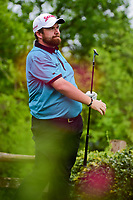 Shane Lowry (IRL) watches his tee shot on 17 during round 3 of the World Golf Championships, Dell Technologies Match Play, Austin Country Club, Austin, Texas, USA. 3/24/2017.<br /> Picture: Golffile | Ken Murray<br /> <br /> <br /> All photo usage must carry mandatory copyright credit (&copy; Golffile | Ken Murray)