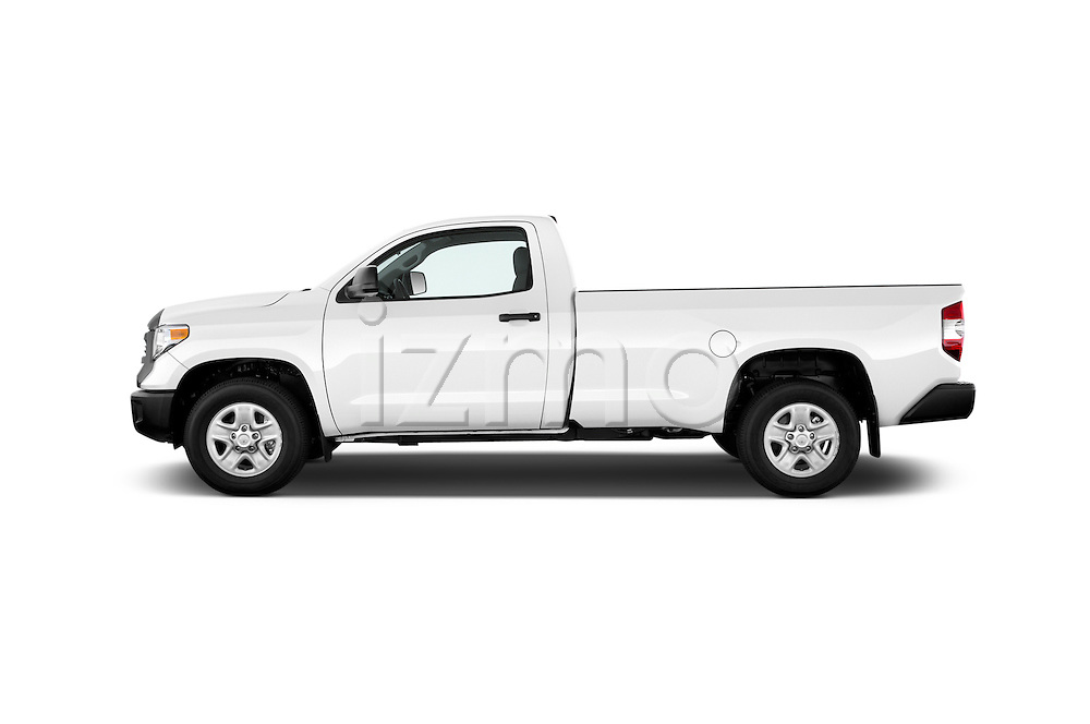 Car Driver side profile view of a 2015 Toyota Tundra 5.7 Auto SR Regular Cab 2 Door Truck Side View