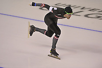 SPEEDSKATING: CALGARY: 15-11-2015, Olympic Oval, ISU World Cup, 1500m, Haralds Silovs (LAT), ©foto Martin de Jong