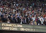 Barca are crowned as Champions. Barcelona v Osasuna (0-1), La Liga, Nou Camp, Barcelona, 23rd May 2009.