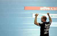 Handball 1.Bundesliga Frauen - DHB HBF - HC Leipzig (HCL) : Buxtehuder SV (BSV) - 32 : 21 - im Bild: HCL Trainer / Coach Stefan Madsen.  Foto: aif / Norman Rembarz..Jegliche kommerzielle wie redaktionelle Nutzung ist honorar- und mehrwertsteuerpflichtig! Persönlichkeitsrechte sind zu wahren. Es wird keine Haftung übernommen bei Verletzung von Rechten Dritter. Autoren-Nennung gem. §13 UrhGes. wird verlangt. Weitergabe an Dritte nur nach  vorheriger Absprache. Online-Nutzung ist separat kostenpflichtig...