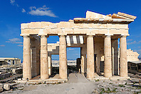 The Propylaia (437 B.C.) on the Athenian Acropolis, Greece