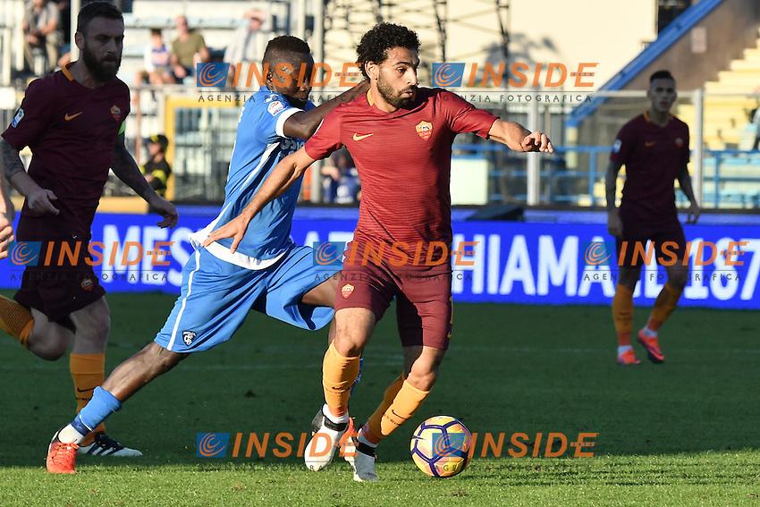 Mohamed Salah Roma, Assane Diousse Empoli <br /> Empoli 30-10-2016 Stadio Castellani <br /> Football Calcio Serie A 2016/2017 Empoli - AS Roma Foto Andrea Staccioli / Insidefoto