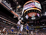 """LOS ANGELES, CA - MARCH 12:  """"One Day One Game"""" Blake Griffin #32 of the Los Angeles Clippers dunks against the Golden State Warriors during their NBA Game at the Staples Center  on March 12, 2014 in Los Angeles, California.  (Photo by Donald Miralle for ESPN the Magazine)"""