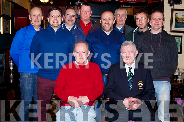 Captains Old Reserves golfers gather in the Greyhound Bar on Saturday night. <br /> Seated l-r, John Campbell (Vice President) and Eamonn Reidy (Captain).<br /> Back l-r, Shane Murphy, Seamus Cronin, Andrew Robb, Colin O&rsquo;Sullivan, Colm Sheehy, Mike Barry, Tommy Higgins and Derek Walsh.