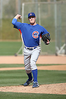 Dallas Beeler of the Chicago Cubs participates in spring training workouts at the Cubs complex on March 6, 2011  in Mesa, Arizona. .Photo by:  Bill Mitchell/Four Seam Images.