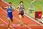 Akihiko Nakamura (JPN), <br /> AUGUST 25, 2018 - Athletics : <br /> Men's Decathlon 400m <br /> at Gelora Bung Karno Main Stadium <br /> during the 2018 Jakarta Palembang Asian Games <br /> in Jakarta, Indonesia. <br /> (Photo by Naoki Morita/AFLO SPORT)