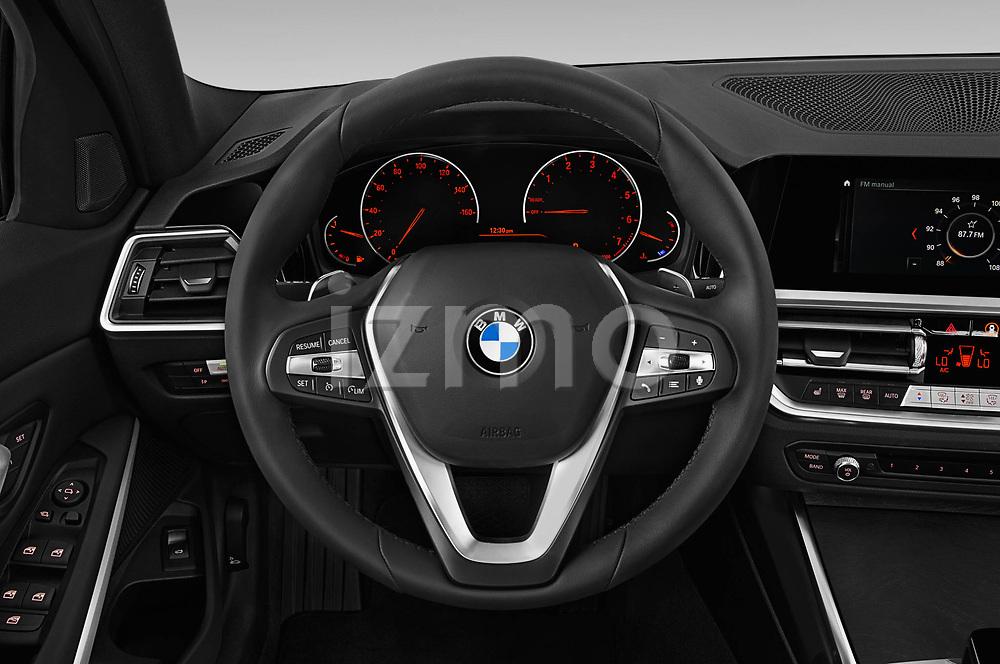 Car pictures of steering wheel view of a 2019 BMW 3-Series-Sedan 330i-Sport-Line 4 Door Sedan Steering Wheel