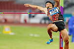 Akihiko Nakamura (JPN), <br /> AUGUST 25, 2018 - Athletics : <br /> Men's Decathlon High Jump <br /> at Gelora Bung Karno Main Stadium <br /> during the 2018 Jakarta Palembang Asian Games <br /> in Jakarta, Indonesia. <br /> (Photo by Naoki Morita/AFLO SPORT)