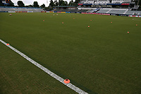 Cary, North Carolina  - Wednesday May 24, 2017: Practice cones prior to a regular season National Women's Soccer League (NWSL) match between the North Carolina Courage and the Sky Blue FC at Sahlen's Stadium at WakeMed Soccer Park. The Courage won the game 2-0.