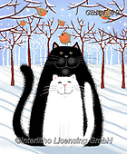 Kate, CHRISTMAS ANIMALS, WEIHNACHTEN TIERE, NAVIDAD ANIMALES, paintings+++++Cats amongst the shadows 3,GBKM89,#xa#