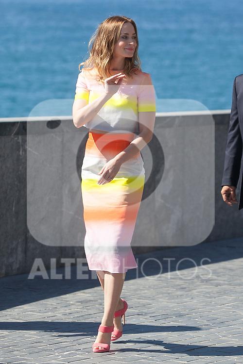 Emily Blunt poses during the `Sicario´ film presentation a 63rd Donostia Zinemaldia (San Sebastian International Film Festival) in San Sebastian, Spain. September 19, 2015. (ALTERPHOTOS/Victor Blanco)