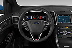 Car pictures of steering wheel view of a 2019 Ford Edge ST 5 Door SUV