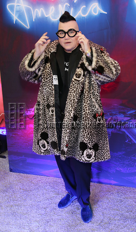 """Lea Delaria attends the Broadway Opening Night Arrivals for """"Angels In America"""" - Part One and Part Two at the Neil Simon Theatre on March 25, 2018 in New York City."""