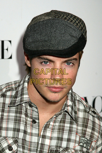 "JOSH HENDERSON.Teen Vogue's ""Young Hollywood"" Issue Party at the Sunset Tower Hotel, West Hollywood, California, USA,.20 September 2006..portrait headshot plaid checked shirt cap hat.Ref: ADM/BP.www.capitalpictures.com.sales@capitalpictures.com.©Byron Purvis/AdMedia/Capital Pictures."