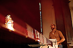 September 14, 2010.  Durham, North Carolina.. Pinson Chanselle of FTBB.. Day One of Sounds of the South, a reinterpretation of Alan Lomax's field recordings, with music by Megafaun, Fight the Big Bull, Sharon Van Etten and Justin Vernon of Bon Iver..